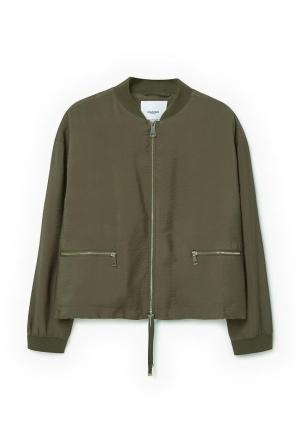 Куртка Mango - KAMUPI. Цвет: хаки