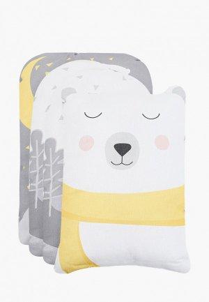 Бортик для детской кровати Крошка Я Большие мечты. Цвет: серый