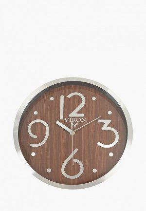 Часы Viron настенные, d 30 см. Цвет: коричневый