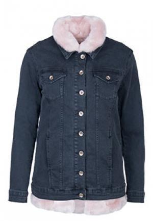 Джинсовая куртка PATRIZIA PEPE. Цвет: серый