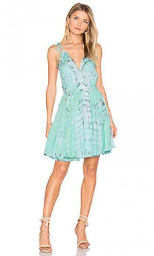Платье geo Tiare Hawaii. Цвет: зеленый