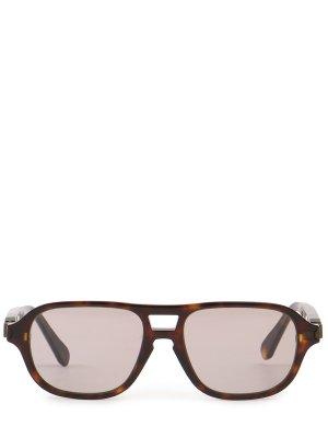 Очки солнцезащитные Brioni. Цвет: разноцветный