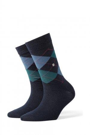 Носки с разноцветными узорами-ромбами Burlington. Цвет: голубой