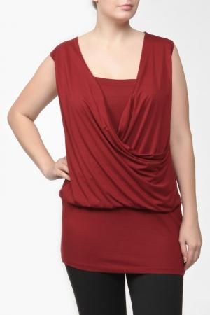 Платье-туника TWO&TWO. Цвет: темно-красный