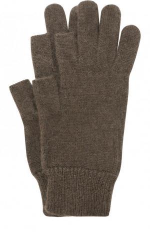 Шерстяные перчатки Rick Owens. Цвет: темно-серый