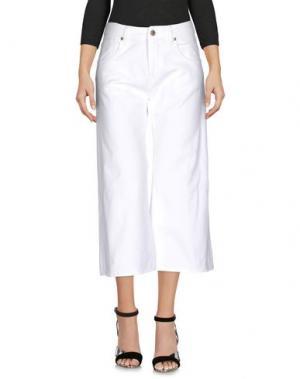 Джинсовые брюки-капри TRUE NYC.. Цвет: белый