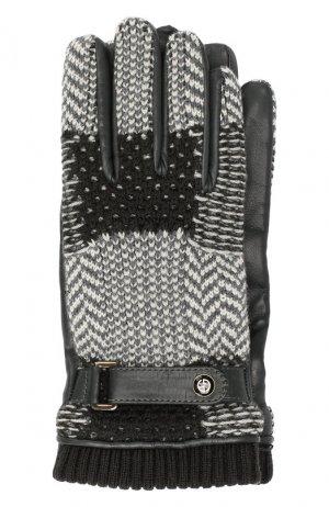 Перчатки Giorgio Armani. Цвет: серый