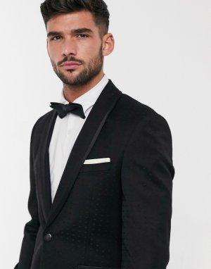 Пиджак с принтом черного цвета -Черный Burton Menswear
