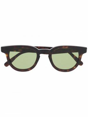 Солнцезащитные очки Certo в круглой оправе Retrosuperfuture. Цвет: коричневый