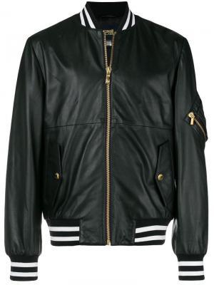 Куртка-бомбер с принтом на спине Cavalli Class