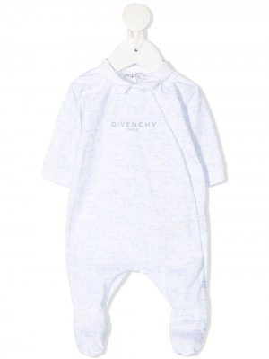 Пижама с логотипом Givenchy Kids. Цвет: белый