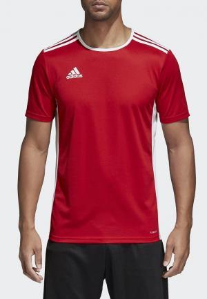 Футболка спортивная adidas ENTRADA 18 JSY. Цвет: красный
