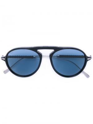Солнцезащитные очки-авиаторы Tods Tod's. Цвет: чёрный