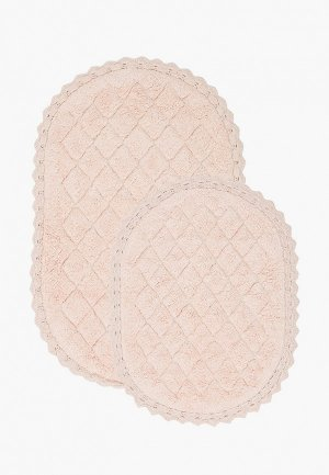 Комплект ковриков Sofi De Marko 60x100 см, 50x60 см. Цвет: розовый