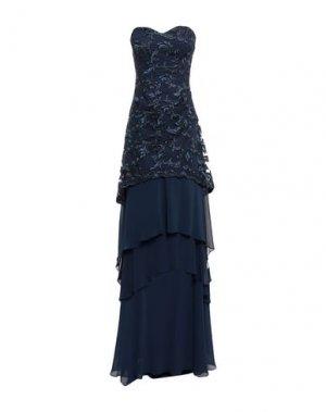Длинное платье CARLO PIGNATELLI CERIMONIA. Цвет: синий