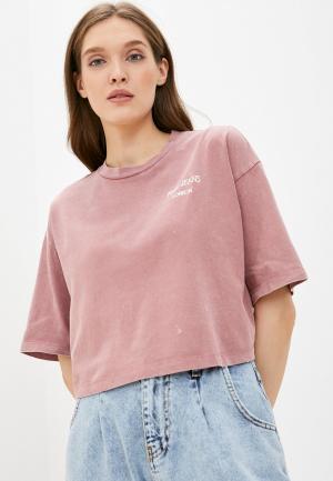 Футболка Pepe Jeans. Цвет: розовый