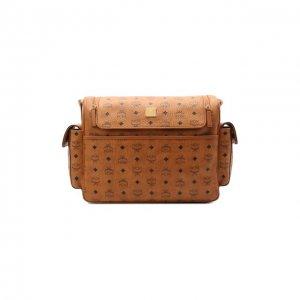 Дорожная сумка Diaper MCM. Цвет: коричневый