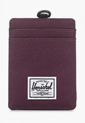 Кредитница Herschel Supply Co Charlie Lanyard RFID. Цвет: фиолетовый