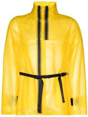 Полупрозрачная куртка Tech Helmut Lang. Цвет: желтый
