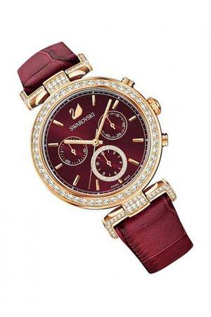 Наручные часы Swarovski. Цвет: красный
