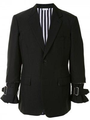 Raw edge blazer jacket with buckle detail Comme Des Garçons Homme Plus. Цвет: черный