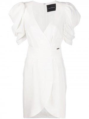 Короткое платье с запахом John Richmond. Цвет: белый