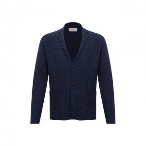 Пиджак изо льна и хлопка Altea. Цвет: синий