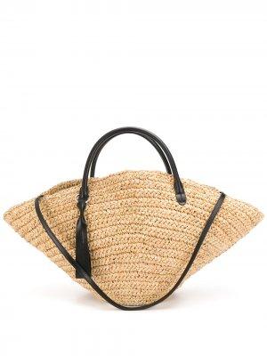 Большая сумка-тоут Sombrero Jil Sander. Цвет: нейтральные цвета