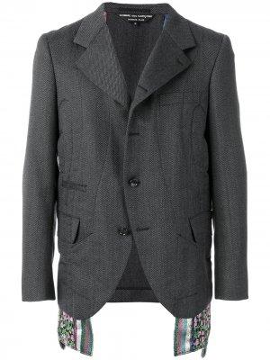 Панельный костюмный пиджак Comme Des Garçons Homme Plus. Цвет: серый