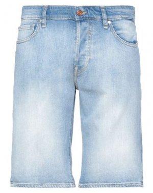 Джинсовые шорты GUESS. Цвет: синий
