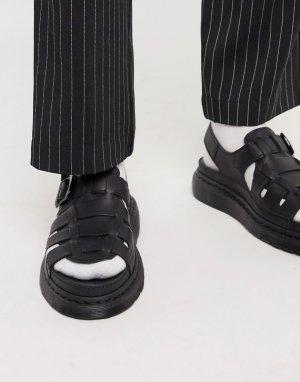 Черные сандалии 8092-Черный Dr Martens