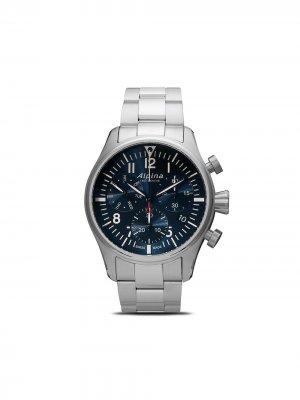 Наручные часы Startimer Pilot Chronograph Quartz 42 мм Alpina. Цвет: blue