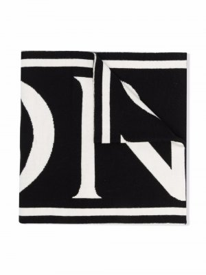 Шарф с логотипом Moncler Enfant. Цвет: черный