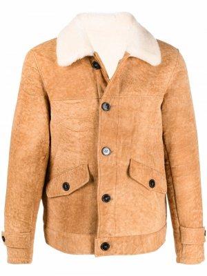 Куртка на пуговицах Officine Generale. Цвет: коричневый