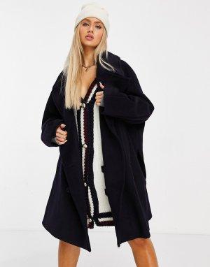Черное oversized-пальто Collections-Черный Tommy Hilfiger