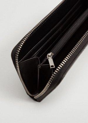 Бумажник с тиснеными цепочками - Lexy Mango. Цвет: черный