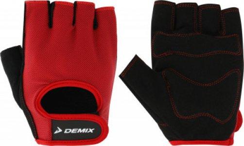 Перчатки для фитнеса , размер M Demix. Цвет: красный