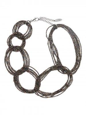 Ожерелье из бисера Brunello Cucinelli. Цвет: золотистый