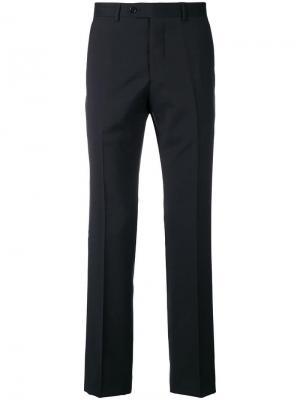 Классические брюки кроя слим Emporio Armani. Цвет: синий