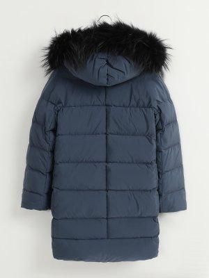 Удлиненная куртка с капюшоном Finisterre. Цвет: siniy