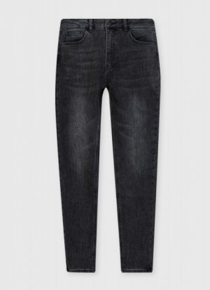Зауженные джинсы с начёсом O`Stin. Цвет: графитовый