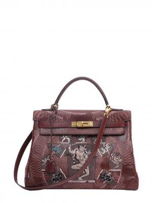 Hermès Kelly Sellier tote bag Jay Ahr. Цвет: red