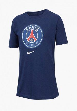 Футболка Nike PSG B NK TEE EVERGREEN CREST. Цвет: синий