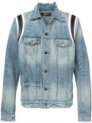 Классическая джинсовая куртка Amiri. Цвет: синий