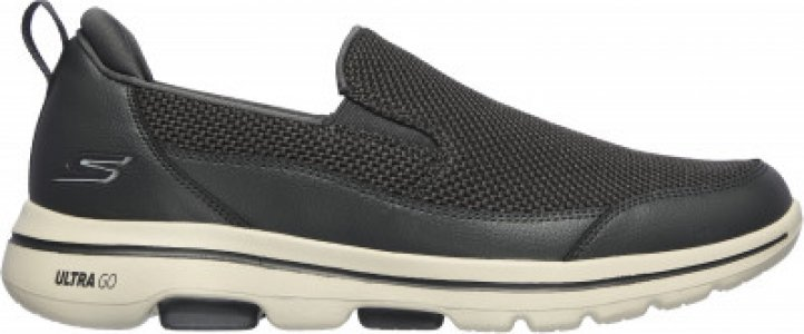 Слипоны мужские Go Walk 5, размер 40 Skechers. Цвет: серый