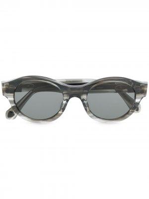 Солнцезащитные очки в овальной оправе Matsuda. Цвет: серый