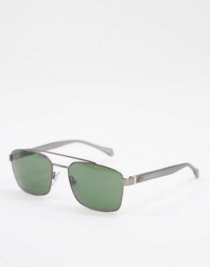 Солнцезащитные очки с квадратными стеклами Hugo Boss 1117/S-Зеленый цвет