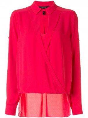 Блузка с запахом BCBG Max Azria. Цвет: розовый