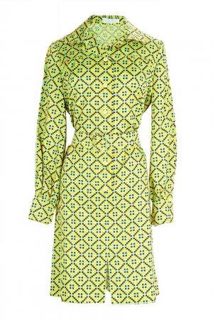 Винтажное платье на пуговицах (70-е гг.) Givenchy Vintage. Цвет: multicolor