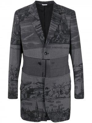 Пиджак с принтом Comme Des Garçons Homme Plus. Цвет: серый